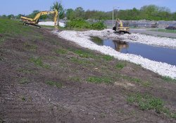 Lake Drive Drainage Ditch Installation, Area 4A / Looking West / Northwest (April 30, 2015)