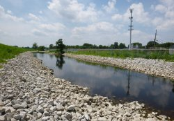 Lake Drive Drainage Ditch / Looking West / Northwest (July 24, 2015)