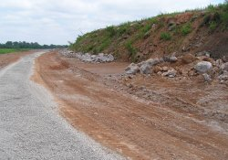 Clean Cover Haul Road Along Area 1A Northern Slopes / Looking East / Northeast (June 2, 2015)