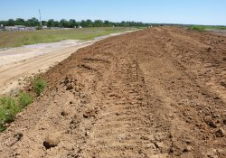 Final Cover Soil Application, Area 1C / Looking East / Northeast (August 25, 2015)