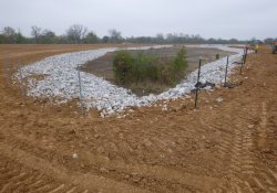 Fence Placement At Area 4A Storm Water Retention Pond / Looking East / Northeast (November 3, 2015)