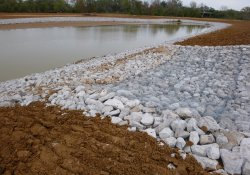 Stormwater Overflow Structure, Area 4A Retention Pond / Looking East / Northeast (October 30, 2015)