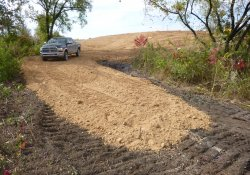 Clean Cover Soil Application, Area 4A Southeast Corner / Looking West (October 20, 2015)