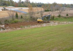 Clean Cover Soil Application Between Areas 4A and 1C Over Former Gypsum Berm Area / Looking Northeast (October 23, 2015)