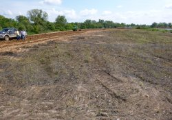 Area 4A Clean Cover Soil Progress / Looking East / Northeast (September 10, 2015)