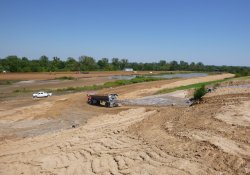 Area 4A Clean Cover Soil Progress / Looking Northeast (September 16, 2015)