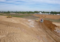 Area 4A Clean Cover Soil Activities / Looking Northwest (September 24, 2015)