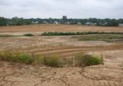 Former Ballfields, Clean Cover Soil Application / Looking West / Southwest (September 29, 2015)