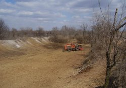 Site Clearing Between Western RDA and Site Area North to Lake Drive (4a) / Looking East (March 25, 2014)