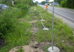 Security Fence Repair Along Lake Drive / Looking West (June 3, 2014)