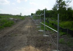 Security Fence Installation, Northwest Corner of the Site / Looking South (June 3, 2014)