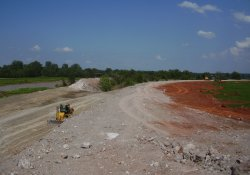 Gypsum Cut Near Western RDA / Looking East / Northeast (July 9, 2014)