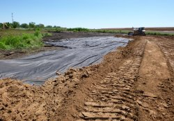 Clean Soil Cover Application Activities, Former Ballfields / Looking East / Northeast (August 25, 2015)