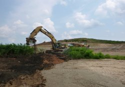 Excavation Activities, Former Ballfields / Looking East (August 31, 2015)