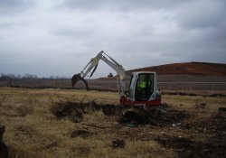Removal of Solid Waste, Former Ballfields Area / Looking East / Southeast (December 8, 2014)