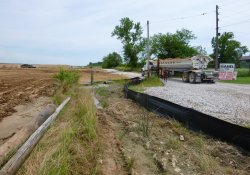 Clean Cover Soil Hauling to OU-2 Former Ballfields Area / Looking East (July 15, 2015)