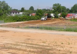 Excavation and Soil Backfill Activities, Former Ballfields Area / Looking West / Southwest (June 10, 2015)