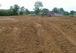 Excavation and Soil Backfill Activities, Southeastern Former Ballfields Area / Looking West (June 12, 2015)