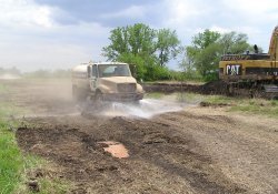 Water Truck for Dust Suppression / Looking South (May 5, 2015)