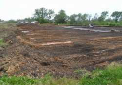OU-2 Former Ballfields Clean Soil Backfill Activities / Looking South / Southwest (May 7, 2015)