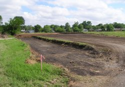 OU-2 Former Ballfields Clean Soil Backfill Activities, Northeast Corner / Looking Northeast (May 21, 2015)