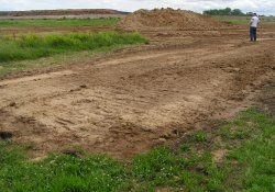 OU-2 Former Ballfields Clean Soil Backfill Activities, Northeast Corner / Looking Southeast (May 26, 2015)