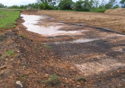 OU-2 Former Ballfields Clean Soil Backfill Activities, Northeast Corner (May 26, 2015)