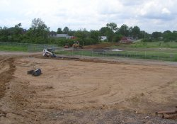 OU-2 Former Ballfields Clean Soil Backfill Activities, Southeast Area / Looking West / Southwest (May 28, 2015)