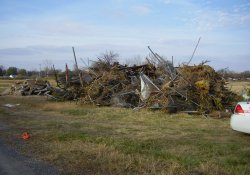 Ballfield Demolition Materials Staged for Disposal / Looking Northwest (November 12, 2014)