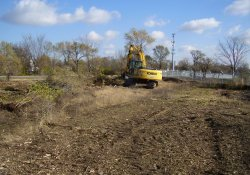 Site Clearing in OU-2, Northeast Corner Near Lake Drive / Looking North / Northeast (November 14, 2014)