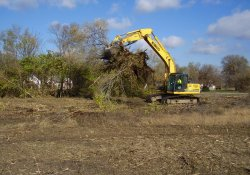 Site Clearing in OU-2 Near Lake Drive / Looking West / Northwest (November 14, 2014)