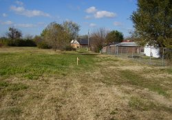 Stake at Northwestern Extent of Proposed Soil Relocation in OU-2 Former Ballfields / Looking West (November 14, 2014)