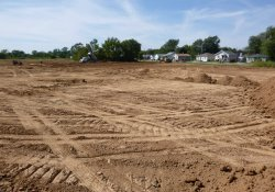 OU-2 Former Ballfields Area, Clean Cover Soil Application in Northeast Corner / Looking Northwest (September 22, 2015)