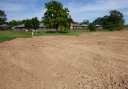 OU-2 Former Ballfields Area, Clean Cover Soil Application in Northeast Corner / Looking North (September 22, 2015)