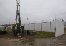 Groundwater Monitoring Well Installation, MW-5S, OU-2 Area / Looking South / Southeast (December 7, 2015)