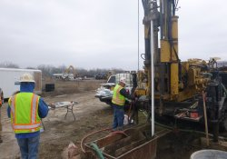 Groundwater Monitoring Well Installation, MW-5S, OU-2 Area / Looking East / Northeast (December 7, 2015)