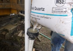 Groundwater Monitoring Well Installation, MW-5S, OU-2 Area / Looking East (December 7, 2015)