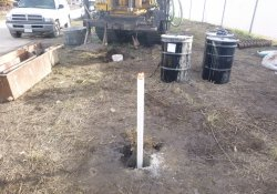 Groundwater Monitoring Well MW-5S / Looking East (December 8, 2015)