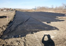 OU-2 Paule Property Proposed Shredder Pad Clean Cover Soil Application / Looking West (December 9, 2015)