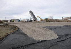 OU-2 Paule Property Proposed Shredder Pad, Clean Rock Cover Placement / Looking South (December 10, 2015)