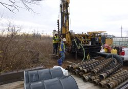 Groundwater Monitoring Well Installation, MW-6S / Looking East (December 10, 2015)