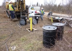 Groundwater Monitoring Well Installation, MW-6S (Deep) / Looking Southwest (December 11, 2015)