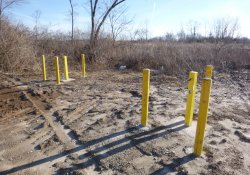 Bollard Protection for Newly Completed Groundwater Monitoring Wells MW-6 & MW-6S / Looking East / Northeast (January 5, 2016)