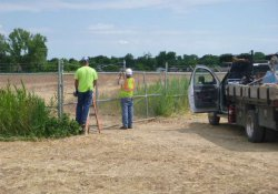 OU-1 Perimeter Gate Maintenance at Entrance to OU-2 Former Ballfields Area / Looking West / Northwest (June 28, 2016)