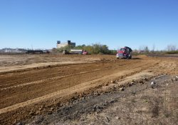 OU-2 Paule and Lewis Properties' Application of Clean Cover Soil / Looking Southwest (November 13, 2015)