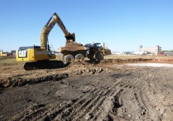 OU-2 Paule Property Material Excavation / Looking South (October 15, 2015)