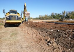 OU-2 Paule Property Material Excavation / Looking West / Northwest (October 16, 2015)