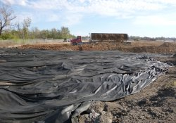 Clean Cover Soil Application, OU-2 Paule Property / Looking East (October 20, 2015)