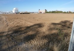 Clean Soil Cover Application, OU-2 Paule Property / Looking South / Southwest (October 26, 2015)