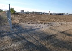 Clean Soil Cover Application, OU-2 Paule Property / Looking East / Southeast (October 26, 2015)
